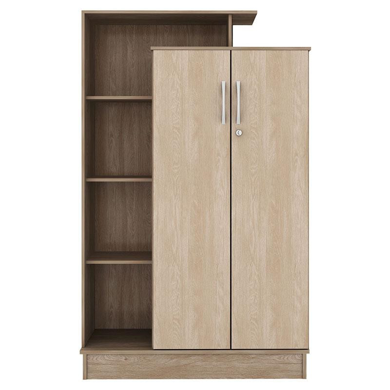 Armario Escobero Ikea ~ Armário Multiuso Demóbile Elite 2 Portas Nogal Vanilla Touch