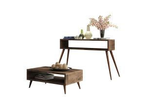 Aparador Quad e Mesa de Centro Lucy Deck – HB Móveis