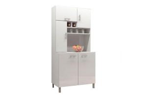Armário de Cozinha Jade Branco Brilho – AJL
