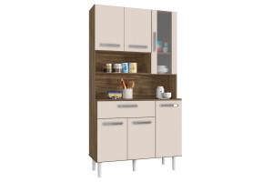 Armário-de-Cozinha-Kit-Cancun-6-Portas-Teka-Champanhe---Inco