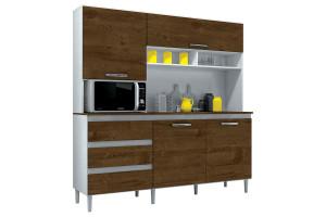 Armário de Cozinha Kit Florença 4 Portas Branco Malbec - Inc