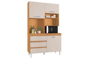 Armário-de-Cozinha-Kit-Smart-3-Portas-Cedro-Champanhe-Incorp