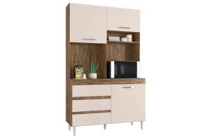Armário-de-Cozinha-Kit-Smart-3-Portas-Teka-Champanhe-Incorpl