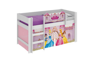 cama infantil princesas disney play branco pura magia