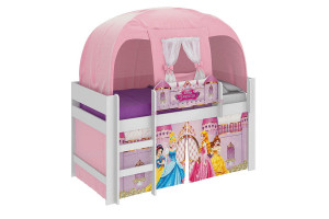 Cama Infantil Princesas Disney Play e Barraca Branco - Pura