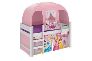 Cama Infantil Princesas Disney Play e Barraca Branco - Pura