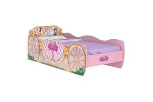 cama infantil princesas disney star 8a rosa pura magia
