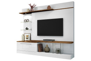 Estante Home Theater Allure Branco Canyon HB Móveis