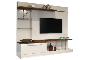 Estante Home Theater Allure Off White Deck - HB Móveis