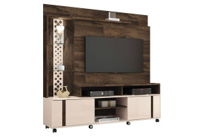 Estante Home Theater Vitral Deck Off White - HB Móveis