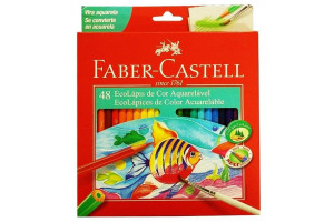 Lápis De Cor C/ 48 Aquarelável Faber Castell