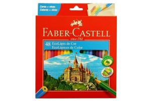 Lápis De Cor Com 48 Ecolápis Faber Castell