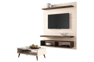 Painel para TV Home Suspenso Life 1.3 e Mesa de Centro Lucy
