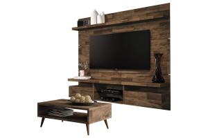 Painel para TV Home Suspenso Livin 1.8 e Mesa de Centro Deck