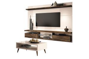 Painel para TV Home Suspenso Livin 2.2 e Mesa de Centro Lucy