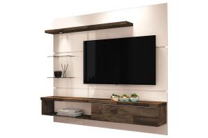 Painel para TV Home Suspenso Ores Off White Deck HB Móveis