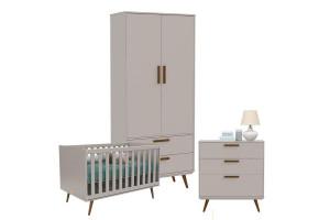 Quarto de Bebê Retro Cinza Eco Wood - Matic
