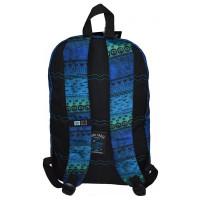 2Mochila Escolar Hang Loose HL1100 Preto/Azul - Nytron