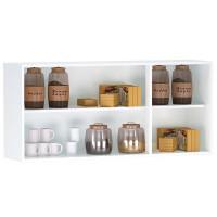 Armário Aéreo de Cozinha 3 Portas Interna Branco Brilho - AJ