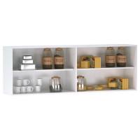Armário Aéreo de Cozinha Interna 4 Portas Branco Preto