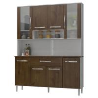 Armário de Cozinha Kit Cancun 8 Portas Branco Malbec - Incor