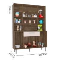 Armário-de-Cozinha-Kit-Cancun-8-Portas-Teka-Champanhe---Inco