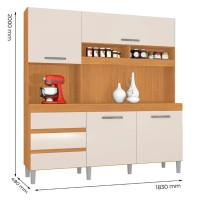 Armário-de-Cozinha-Kit-Florença-4-Portas-Cedro-Champanhe---I