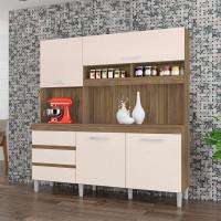 Armário-de-Cozinha-Kit-Florença-4-Portas-Teka-Champanhe---In