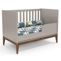 berco americano nature cinza eco wood matic mini-cama
