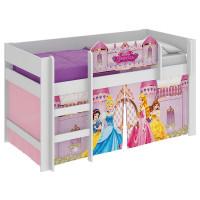 cama infantil princesas disney play rosa pura magia