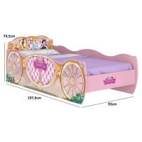 cama infantil princesas disney star 8a rosa pura magia medid