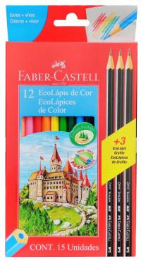 Lápis De Cor Com 12 Ecolápis Faber Castell