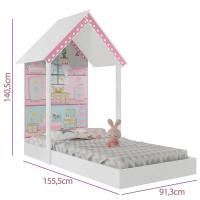 Mini-Cama-Infantil-Montessoriana-Casa-de-Boneca-Branco-Pura-